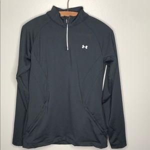 Under Armour Black 1/4 Zip Pullover Athletic Top